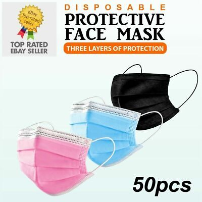 Masks Premium Quality - Face, Mouth & Nose Protection Masks 5's 10's 20's & 50's