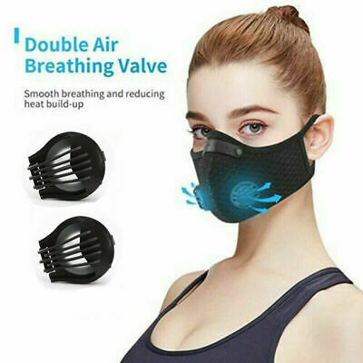 Reusable & Washable Face Mask - Respirator Air Flow Filter Protection UK Seller