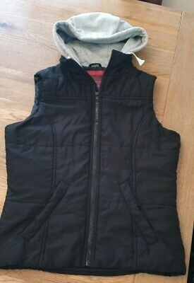Girls New Look Generation 915 Black Hooded Gilet Age 14-15 Yrs Excellent...