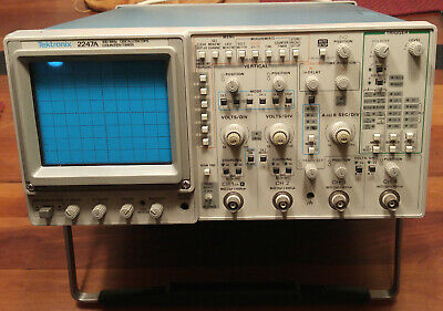 Tektronix 2247A Analog Oscilloscope Very Good working condition. One small dent