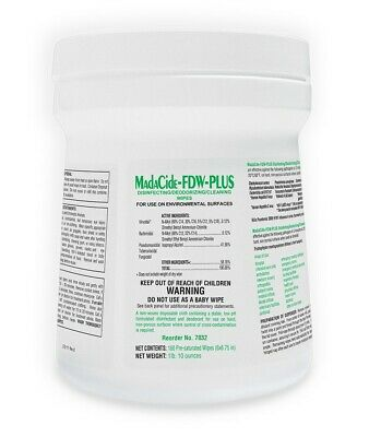 Madacide FDW Plus Hospital Grade Disinfectant  - 160 per canister