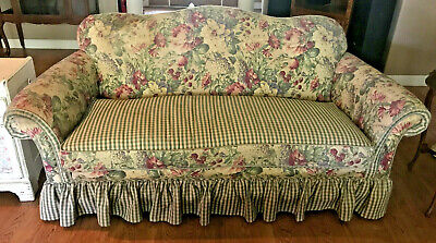 French Country Shabby Chic Custom Made SOFA & TWO MATCHING CHAIRS with Pillows