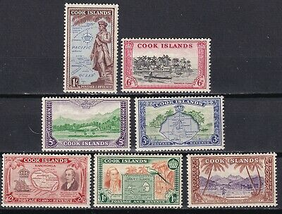 Cook Island 1949  part set of 7 mint hinged