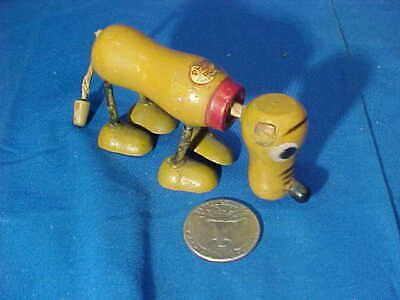 Orig 1930s WALT DISNEY Enterprises PLUTO The PUP Small WOOD TOY FIGURE 3""