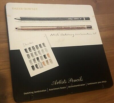 Daler Rowney Artists' Sketching Combination Set Pencils Brand New & Sealed