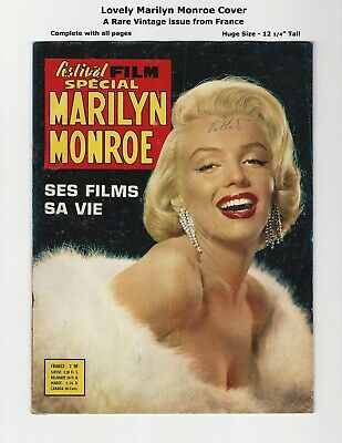 Festival Film Special: Marilyn Monroe - Rare French Magazine - Many Pictures!
