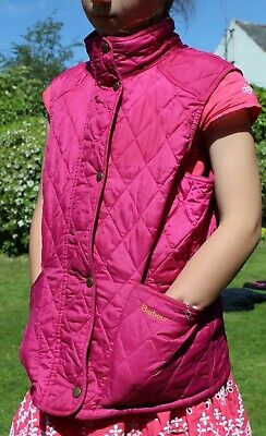 Pink Barbour body warmer age 1213 Used