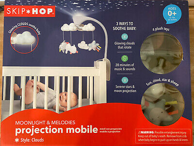 SKIP HOP MOONLIGHT MELODIES PROJECTION MOBILE ~ Clouds ~ Open Box Never Used