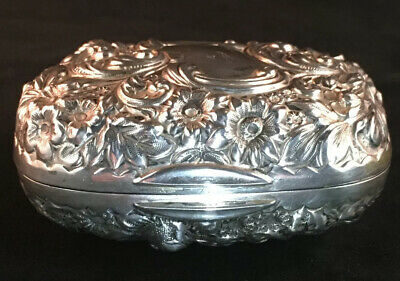 Gorham Repousse Sterling Silver Soap Box No Monogram