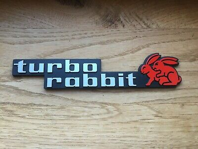 VW GTI Emblem turbo rabbit silber/rot