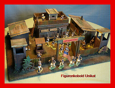 Wild West Fort für Elastolin Timpo Lineol King and Country Figuren passend