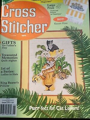 The Cross Stitcher Magazine June 1997 For Cat Lovers