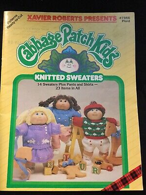 Cabbage Patch Kids Knitted Sweaters Book 7866 By Xavier Roberts