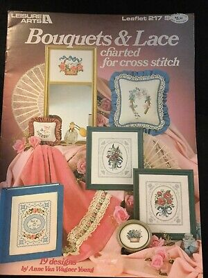 Bouquets And Lace Charted For Cross Stitch Book 217 By Leisure Arts