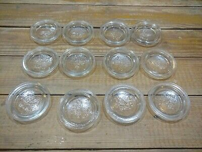 12 Vintage ball glass lids