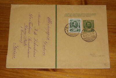 Russia 1913 SUPERB wrapper with Romanov stamps!