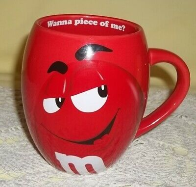 2016 Red M&M - Wanna Piece of Me? Barrel Coffee Mug  -  M&M'S World - 20 Oz Mug
