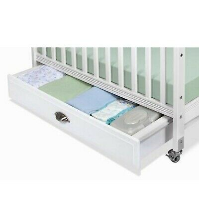 """Foundations Serenity Collection 36"""" EZ Store Crib Drawer in White"""