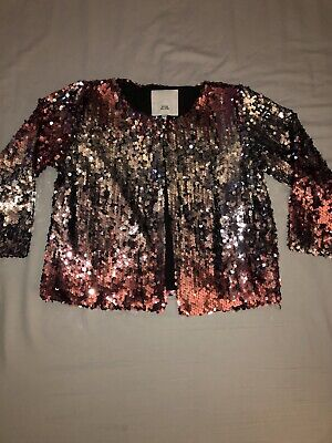 Girls RIVER ISLAND Glitter Balero Jacket Age 11/12! Worn Once