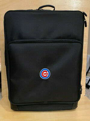 2009 Chicago Cubs Game Used Luggage Travel Bag - Equipment Suitcase - #17