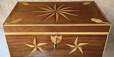 American Folk Art Parquetry Box
