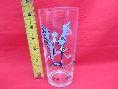 Vtg 1973 Road Runner Glass Pepsi Collector Series Warner Bros Looney Tunes