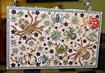 WORKIN ON OUR WEB PAGE Spider THATS JUST CRAZY! HANDBAG Wood Box Purse OOAK USA