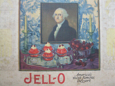 Vintage 1926 Illustrated Jell-O Recipe Booklet George Washington Jello Ice Cream