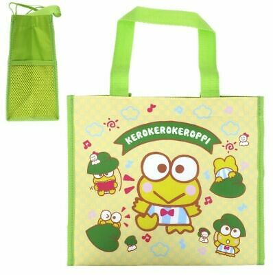 Sanrio Keroppi Frog Tote Bag Lunch Box Bento Snack Food Case Storage Pouch Purse