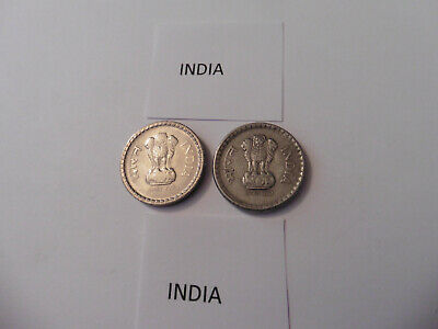 2000 & 2001 India Circulated 5 Rupees Coins