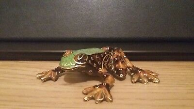 Cloisonne frog home decor art handmade hand painted figure Statue ornaments