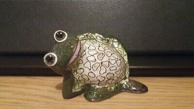 Cloisonne frog  art home decor  handmade hand painted figure Statue ornaments