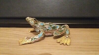 Cloisonne frog home decor handmade hand painted figure Statue ornaments