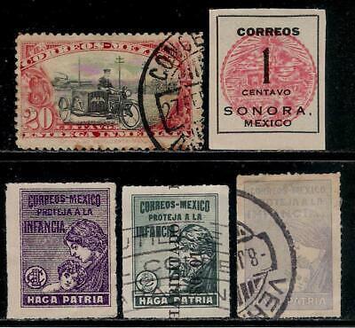 MEXICO 1914 - 1929 Nice Old Stamps