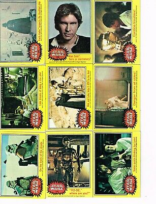 1977 topps star wars series 3 yellow border card lot (47) all different