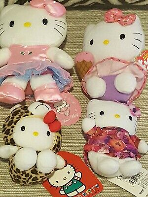 Set of 4 Hello Kitty various plush collectables - all new with tags