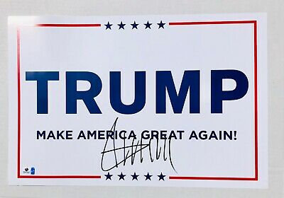 Donald Trump Autographed Make America Great Again 2016 Campaign Poster (COA)