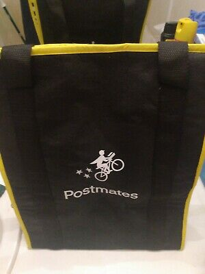Official Postmates Insulated Food Delivery Bag - Used