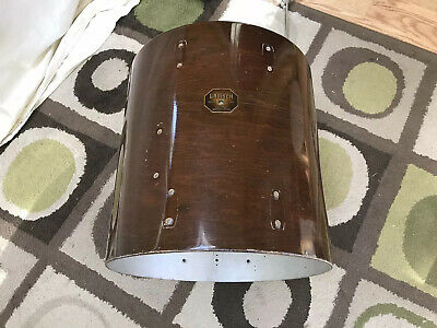 Gretsch 60s 70s 16x16 Floor Tom Drum Shell w/ Badge Walnut Finish 1969 No Res.