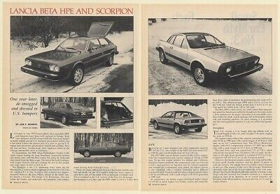 1976 Lancia Beta HPE and Scorpion 2-Page Photo Article