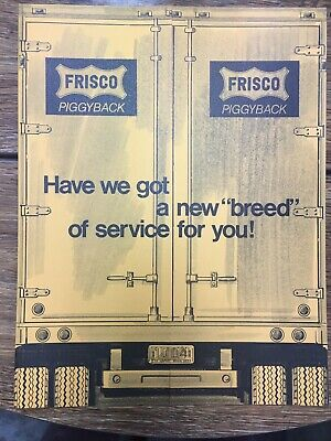 1973 Railroad Rr Frisco System Map Piggyback Services Literature Paper Brochure