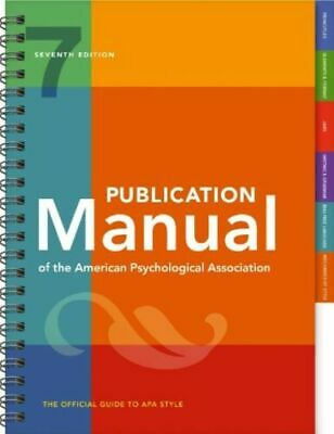 Publication Manual of the American Psychological Association 7th Ed 2020 (P.D.F)