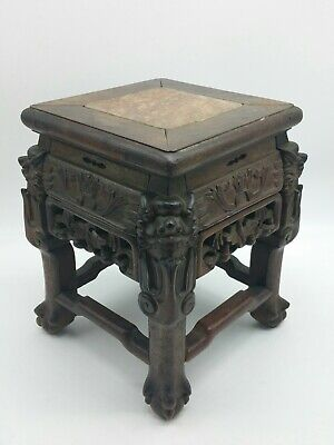 ANTIQUE Chinese/Asian HUANGHUALI Rosewood Stool ee3a