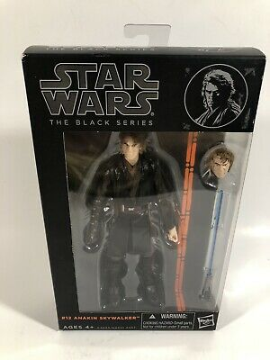"2013 Star Wars Wave 2 Black Series Anakin Skywalker 6"" Figure #12 New"
