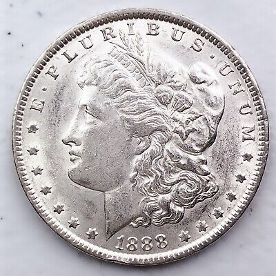 1888 Au Morgan Silver Dollar 90% Silver $1 Coin Us #A21
