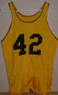 vintage 1970's  Rawlings Game Used Durene Basketball Jersey worn by #42
