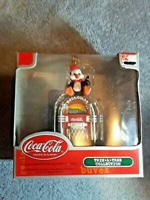 Coca-Cola Trim A Tree Collection Penguin with jukebox