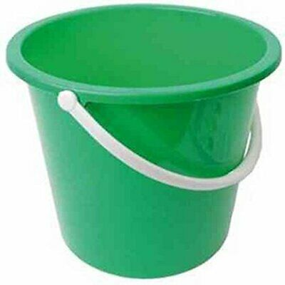 Jantex Round Plastic Bucket Green Garden Water with Handle CD806