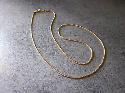 collana a serpentina 18kt oro necklace solid link snake chain gold made in italy