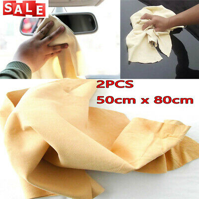 2 x Genuine Chamois Leather Best Quality Dry Car cloth tanned Sheepskin large